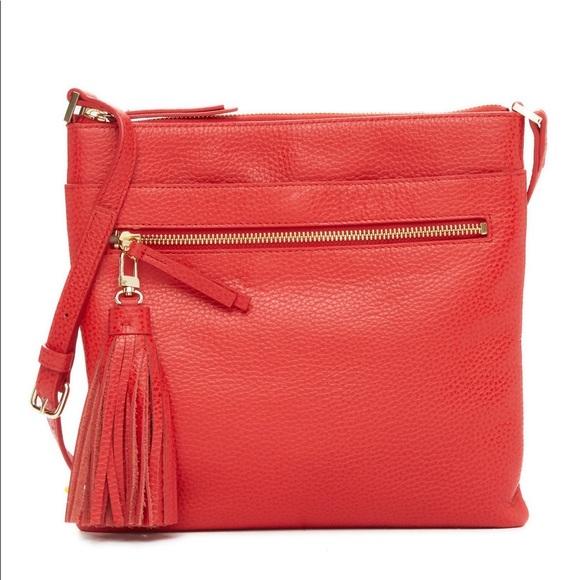 e3d466499898e2 Halogen Bags | Tasseled Leather Crossbody Bag | Poshmark